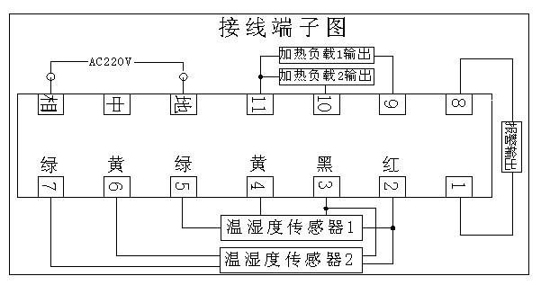 具有限温警示作用的温湿度传感器电路原理图