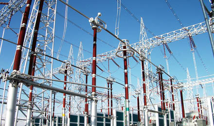 变电站电气主接线为双母线分段接线.